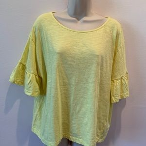 Zara Ruffle Sleeve T-Shirt